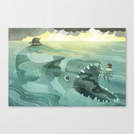 Jonah Tossed Overboard (by Melanie Matthews) Canvas Print