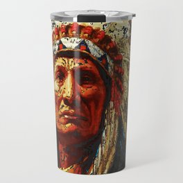 weathered chief Travel Mug