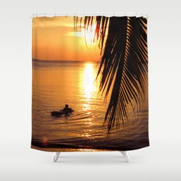 Island sunset relaxation Shower Curtain