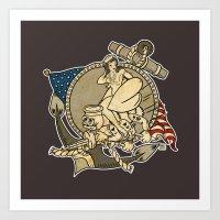 Navy SeaBee Print Art Print