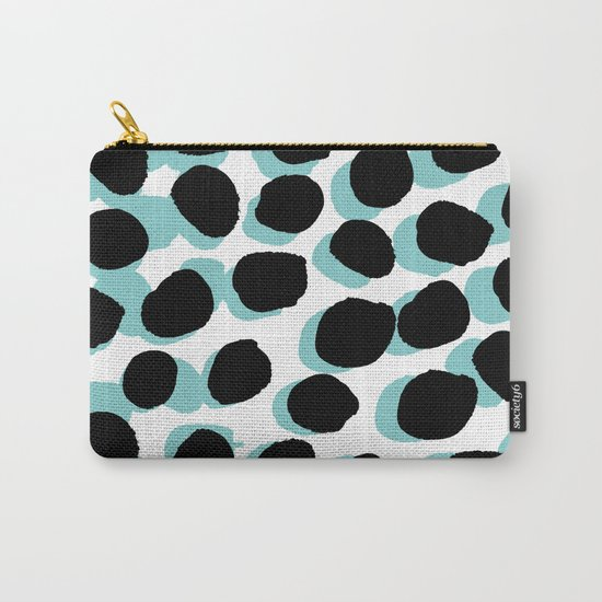 Malea Print -  Spots, Dots, painterly pattern, design, painted design, print surface design Carry-All Pouch