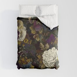 Dutch Vintage Midnight Flower Garden  Comforters