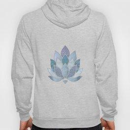 Elegant Glamorous Pastel Lotus Flower Hoody