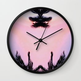 Levitate #society6 #buyart #coconuttrees Wall Clock