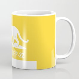 P-22 Mountain Lion Yellow Coffee Mug