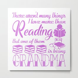 Reading Grandma Metal Print