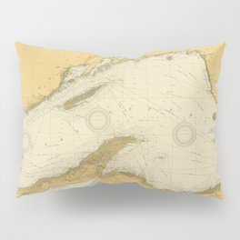 Vintage Map of Lake Superior (1832) Pillow Sham