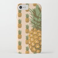 pineapples iPhone & iPod Cases featuring Pineapples by brocoli art print