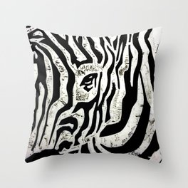 Inconspicuous Zebra Throw Pillow