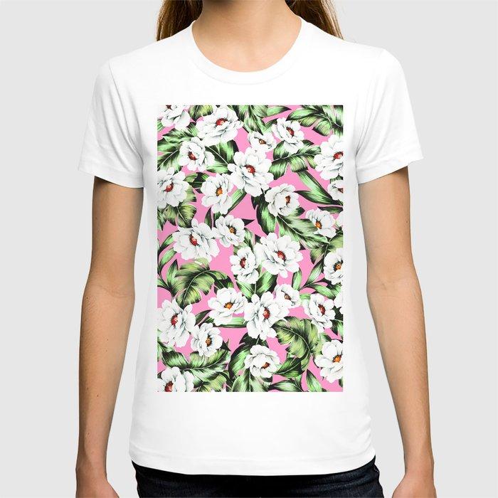 White Spring Flowers T-shirt