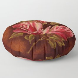 The Story of a Rose Floor Pillow