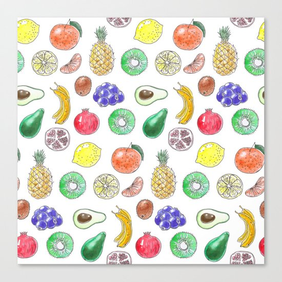 Tropical fruit Canvas Print