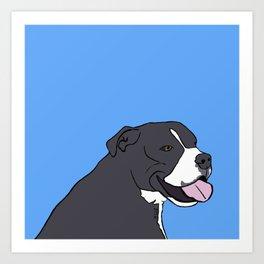 Cash The True Bluenose Pit Bull Art Print