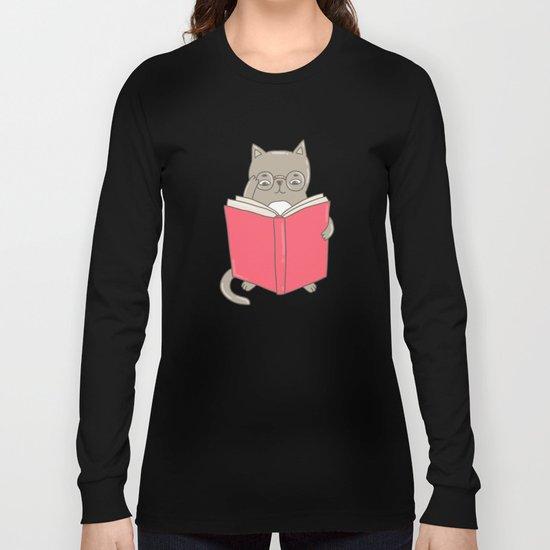 Cat booklover Long Sleeve T-shirt