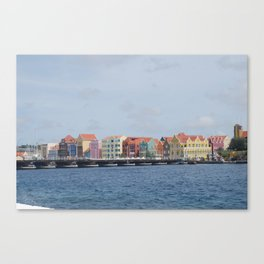 Colorful Willemstad Architecture Canvas Print