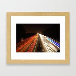 Light Trails Framed Art Print