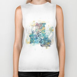 City Tide - Abstract Painting II Biker Tank