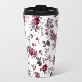 winter floral Travel Mug
