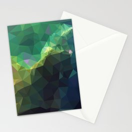 Galaxy low poly 3 Stationery Cards