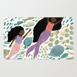 Mermaids and Fish in the Ocean Rug