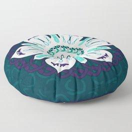 Rock Climbing Mandala Floor Pillow