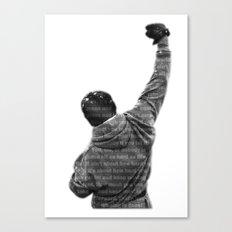 How Hard You Get Hit - Rocky Balboa Canvas Print