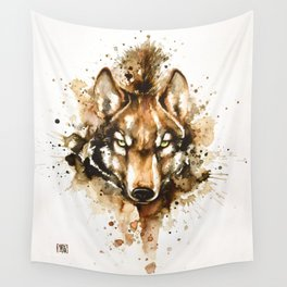 """""""Into the mirror"""" n°1 The wolf Wall Tapestry"""