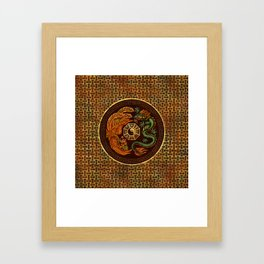 Phoenix and Dragon with bagua #1 Framed Art Print