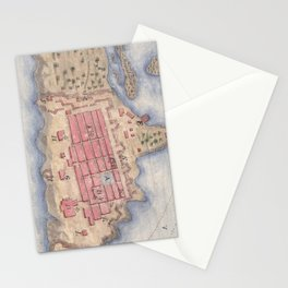 Vintage Map of San Juan Puerto Rico (1770) Stationery Cards