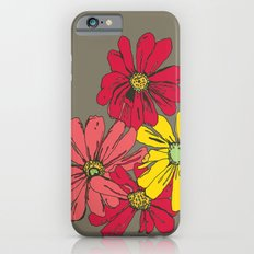 Grey Flowers iPhone 6s Slim Case