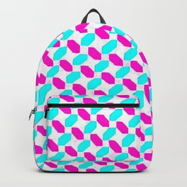 Inverted Pink & Light Blue Diamonds Backpack