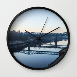 Reflections in the Tyne, Newcastle UK Wall Clock