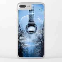 music blue Clear iPhone Case