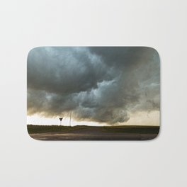 Storm Cloud Over Country Road Bath Mat
