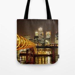 London, Piers of Docklands Hilton Tote Bag