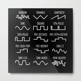 Synthesizer Vintage Waveform Nerd Metal Print