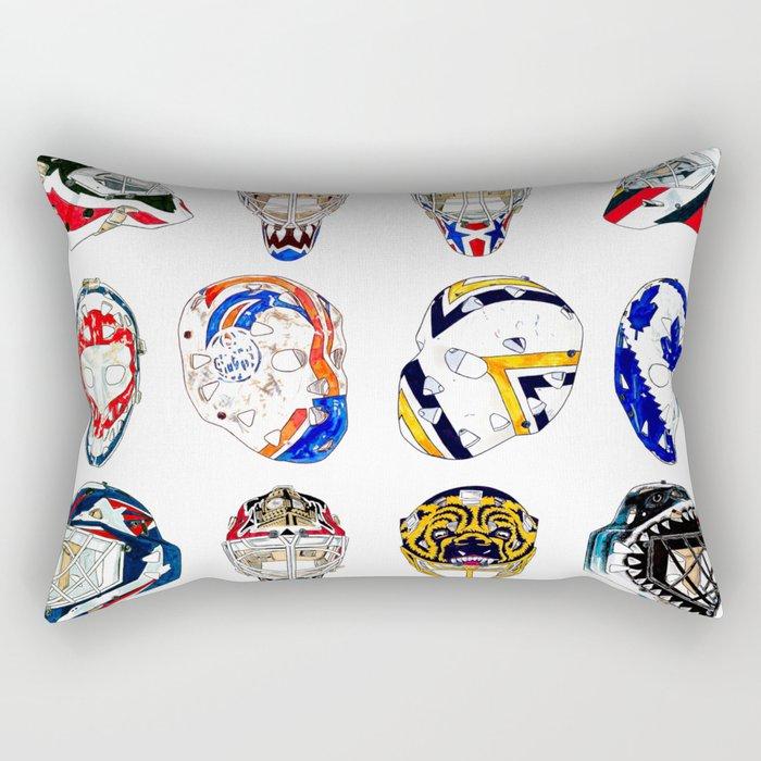 12 Masks Rectangular Pillow