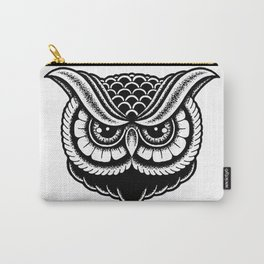 Traditional Owl Print Carry-All Pouch