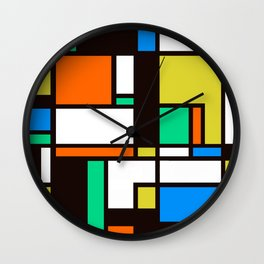 Mondrian 3 Wall Clock