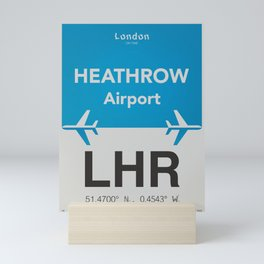 LHR airport Mini Art Print
