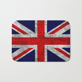 Union Jack Grunge Flag Bath Mat