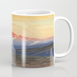 Tsurigizan Morning Hiroshi Yoshida Vintage Japanese Woodblock Print Coffee Mug