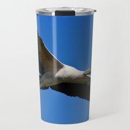 Wood Stork in Flight Travel Mug