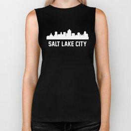 Salt Lake City Utah Skyline Cityscape Biker Tank