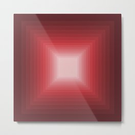 Red Square Gradient Metal Print