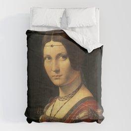 Leonardo da Vinci - Ritratto di donna, dice La Belle Ferronnière Comforters