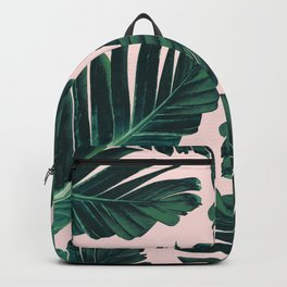 Tropical Blush Banana Leaves Dream #1 #decor #art #society6 Backpack