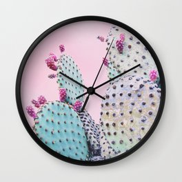 Pink Crush Cactus I Wall Clock