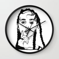 cactei Wall Clocks featuring FKA Twigs by ☿ cactei ☿