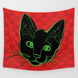 Chat de Chaos Wall Tapestry
